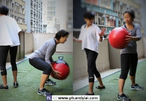 Partner squat & rotation with watermark