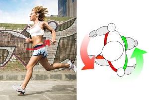running gait arrow